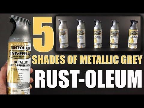 Rust-Oleum Review Five Metallic Grey Spray Paints Comparison