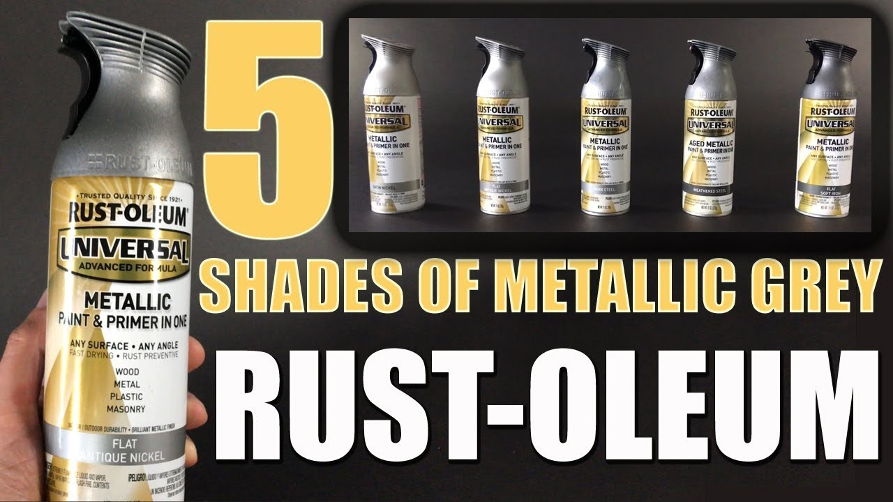 Rust-Oleum Review Five Metallic Grey Spray Paints Comparison