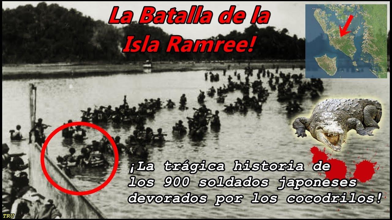 La Batalla de la Isla RAMREE. Cocodrilos de Mar vs Soldados Japoneses! By TRU