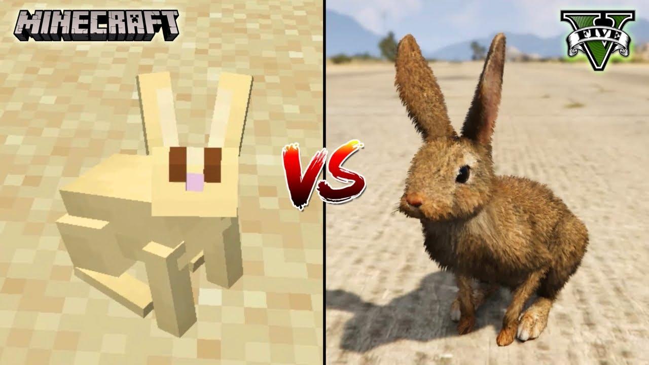 MINECRAFT RABBIT VS GTA 5 RABBIT - WHO IS BEST?