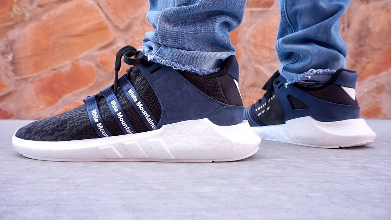 newest ed58f f62c6 ADIDAS WHITE MOUNTAINEERING EQT SUPPORT FUTURE 9317 UP CLOSE ON FOOT  REVIEW !!!