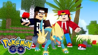 Minecraft Pokemon Go - JACK CATCHES A MANECTRIC, ROPO WANTS TO BATTLE!!!