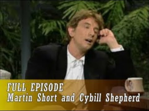 Johnny Carson 1989 06 08 Martin Short and Cybill Shepherd