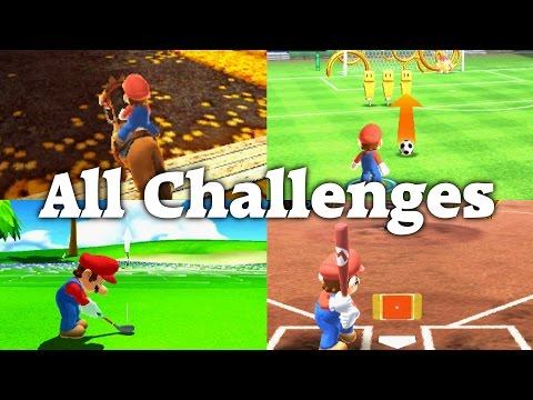 Mario Sports Superstars - All Challenges (Hard Mode)