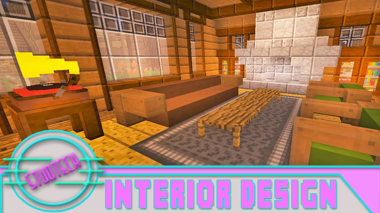 Modded Minecraft Cool Living Room Furniture Designs StudTech Ep17