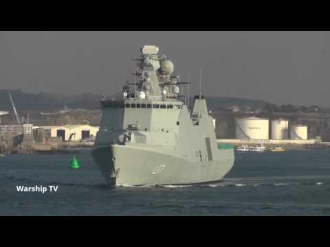 ROYAL DANISH NAVY HDMS ESBERN SNARE L17 ENTERS DEVONPORT NAVAL BASE - 20th January 2017