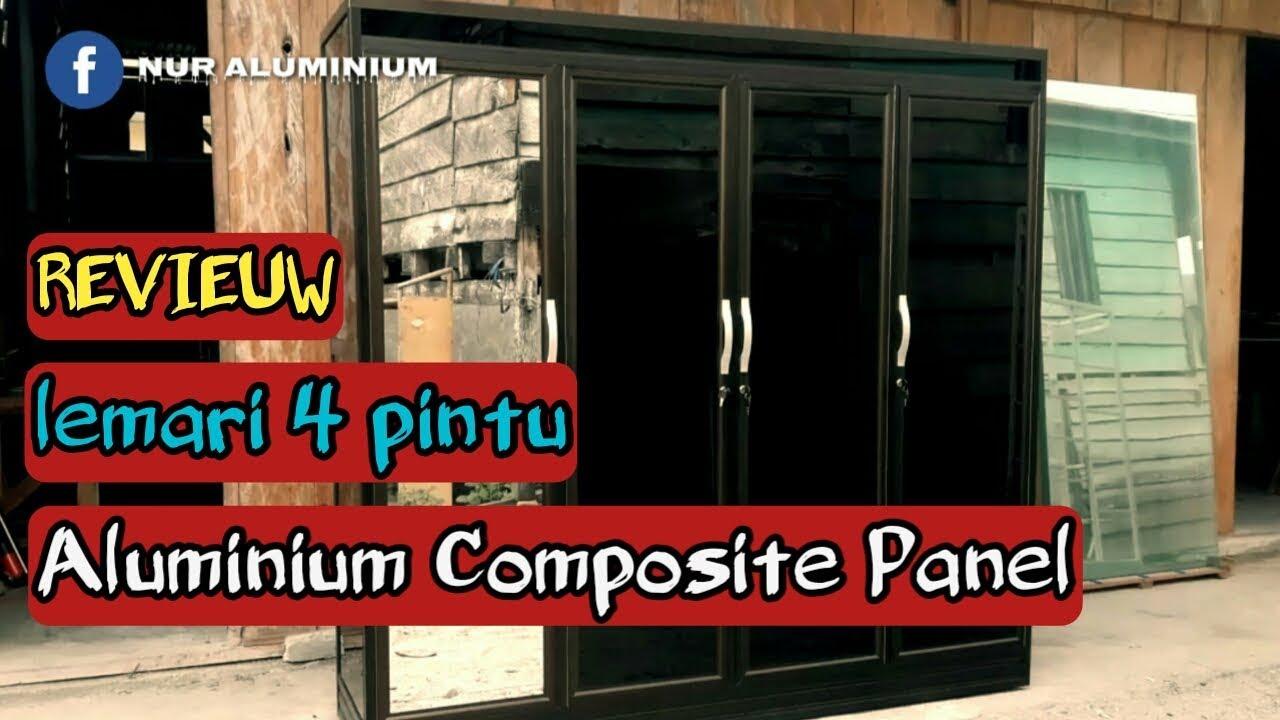 Lemari Pakaian Aluminium 4 Pintu Karakter