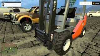 Farming Simulator 2015- Hauling equipment in America! EP3PT2