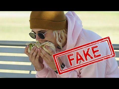 Viral Justin Bieber Eating Burrito SIDEWAYS Is FAKE! Mp3