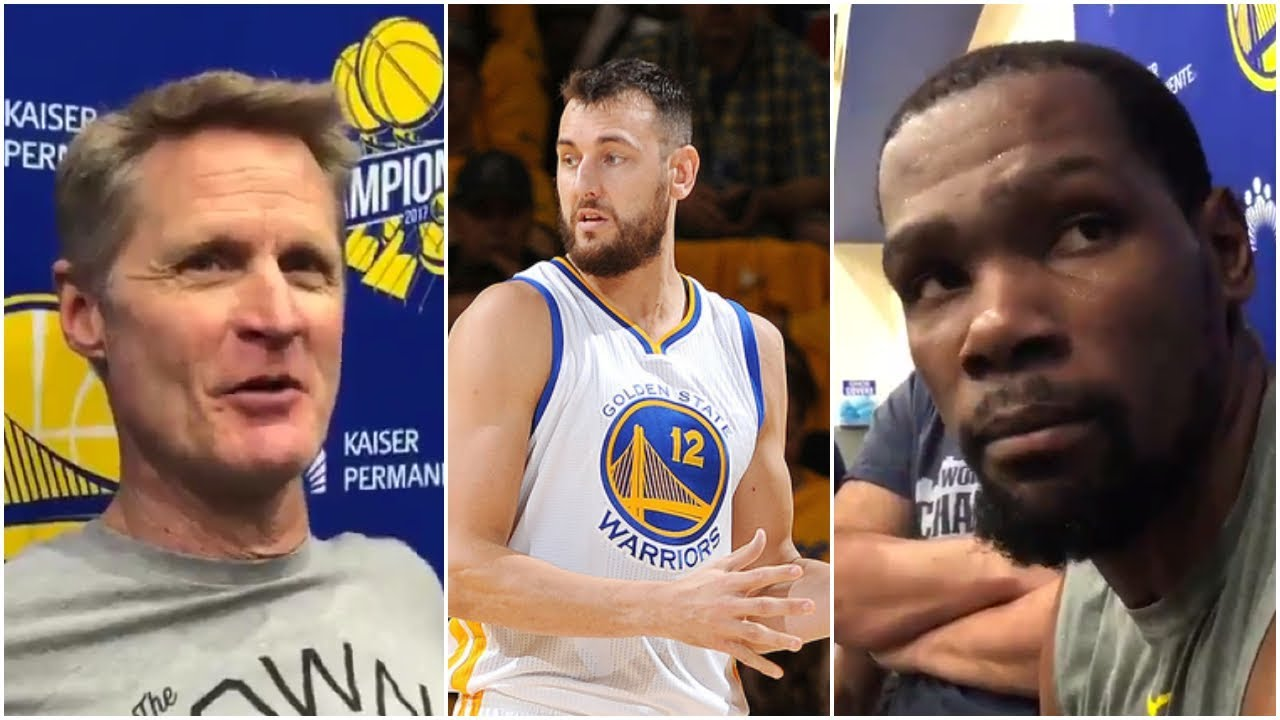 cd6e9dda6f0 Kevin Durant   Steve Kerr on the Warriors planning to sign Andrew Bogut