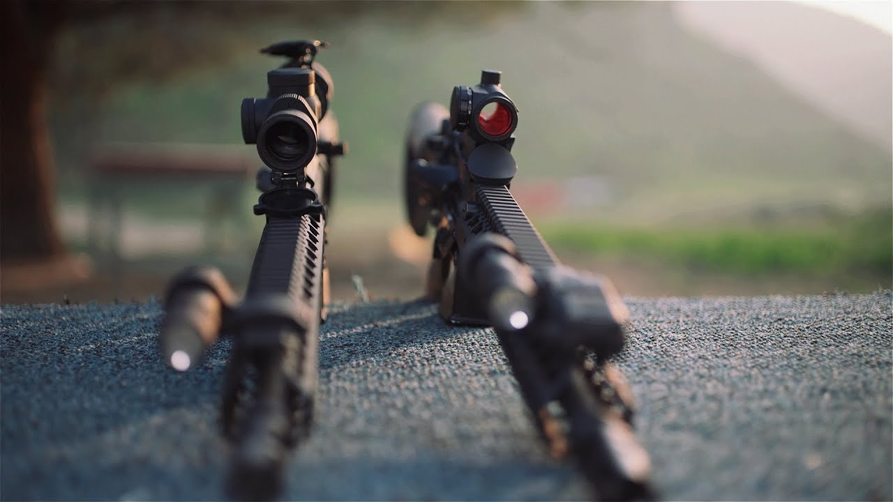 ar15 trijicon tr24 1 4x rifle scope youtube