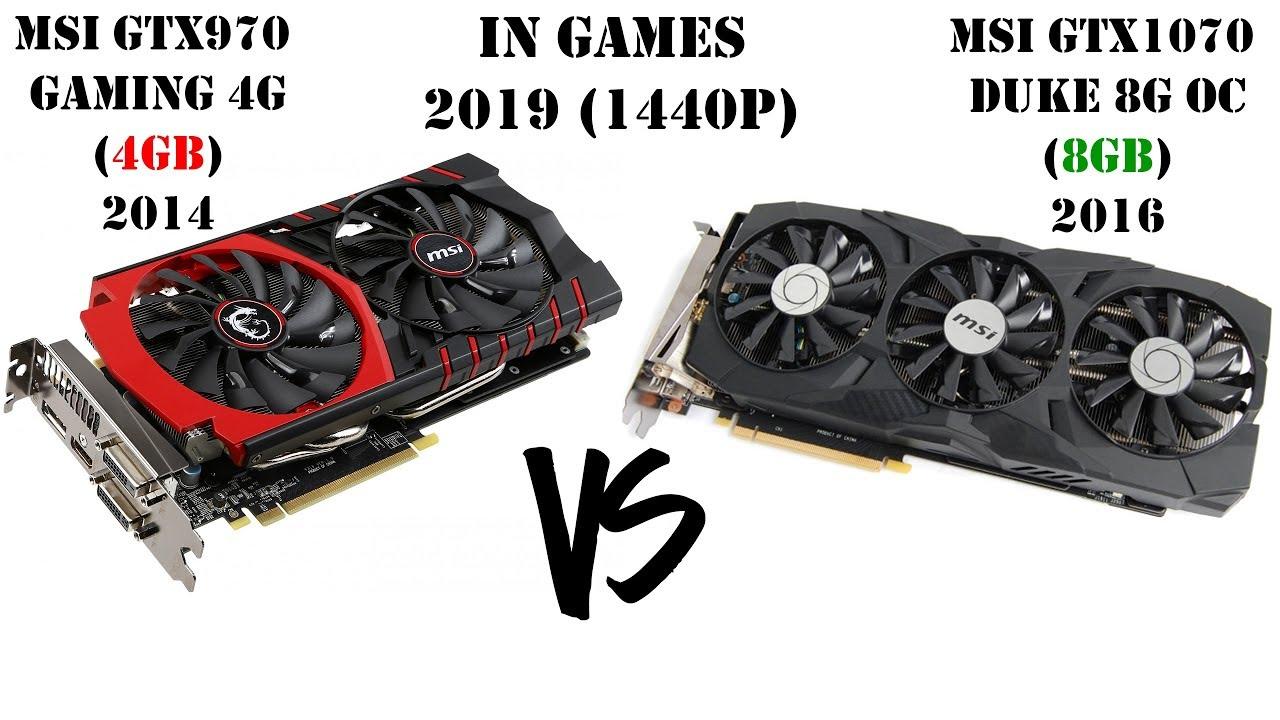Удачный апгрейд видеокарты в 2019 году?! Сравнение GTX970 vs GTX1070 в играх при 1440p
