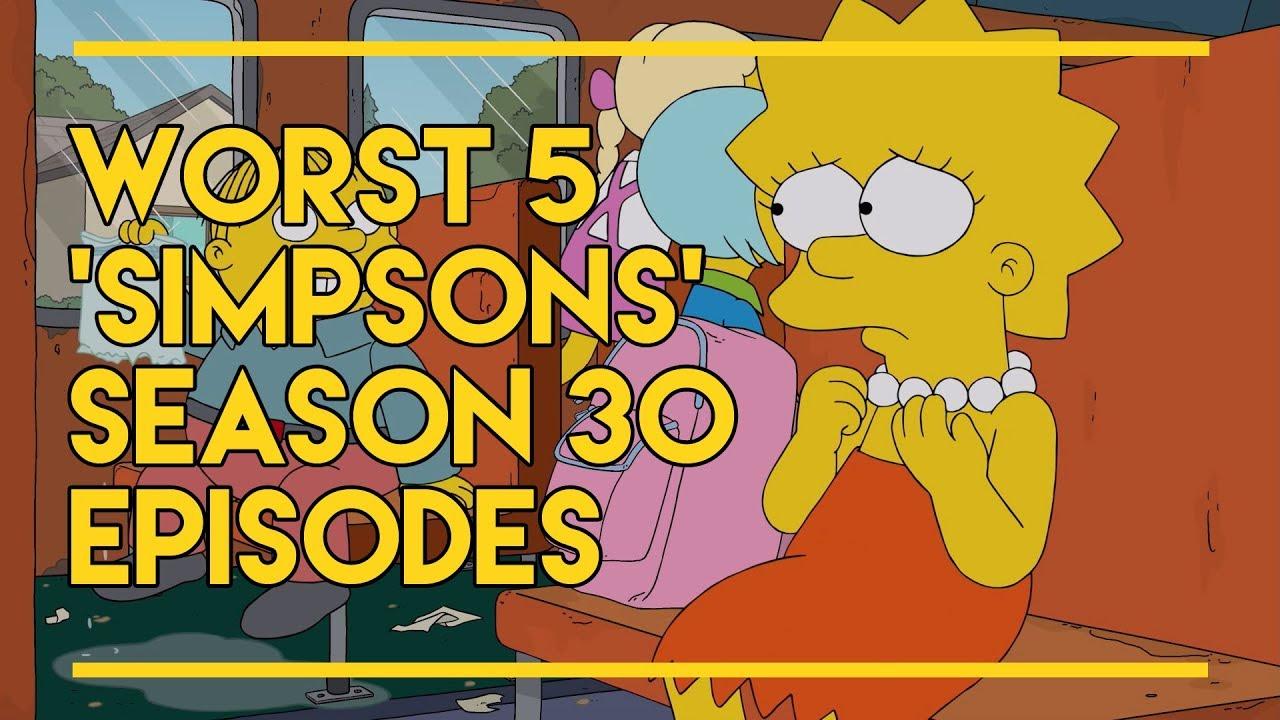 Download The Worst 5 Simpsons Season 30 Episodes