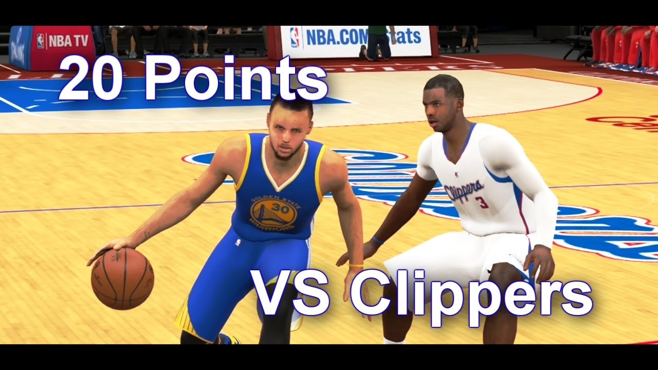 Nba 2k15 stephen curry 20 points vs clippers youtube