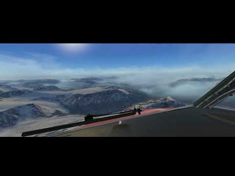 X-Plane 11 - Spectacular approach at Svalbard Airport, Longy