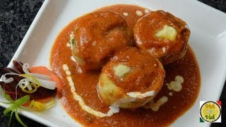 Stuffed Potatoes In Silky Tomato Sauce - Aloo Makhani - By Vahchef @ Vahrehvah.com