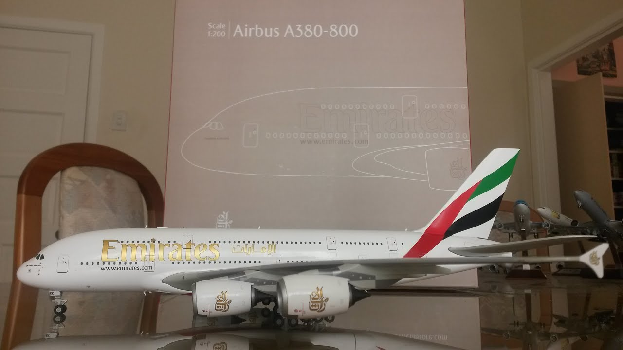 Gemini Jets 1:200 Emirates A380 [A6-EEK] Unboxing and Review