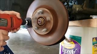 DYI Do It Yourself Redneck Brake Rotor Resurface: Resurface Brake Rotors at Home