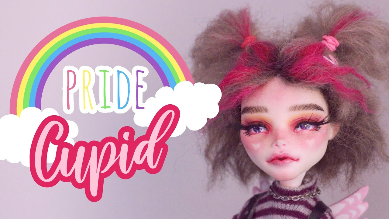 E-GIRL inspired REPAINT! | #PRIDE | Custom Monster High Doll