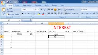 Payments and Interest Calculate in Excel screenshot 1