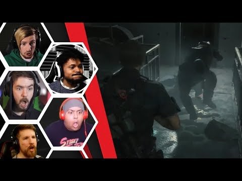Let's Players Reaction To All The Times Mr.X Wants To Give It To Leon | Resident Evil 2: Remake