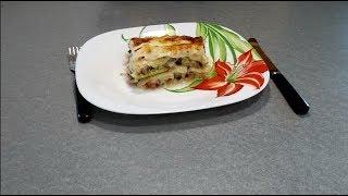 Рецепт Лазанья с мясом и кабачками - видео-рецепт облегченной лазаньи с овощами