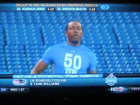 SEAN SMITH NFL COMBINE this kid is big and fast!