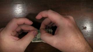 Origami Turkey With A Us Dollar Bill And A Paper Clip