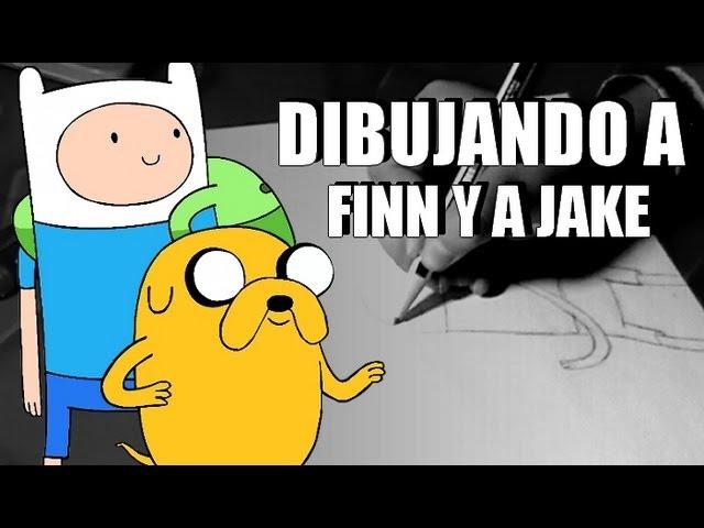 Dibujando a Finn y a Jake - [HoraDeAventura]
