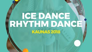 Brown Oona / Brown Gage (USA) | Ice Dance Rhythm Dance | Kaunas 2018