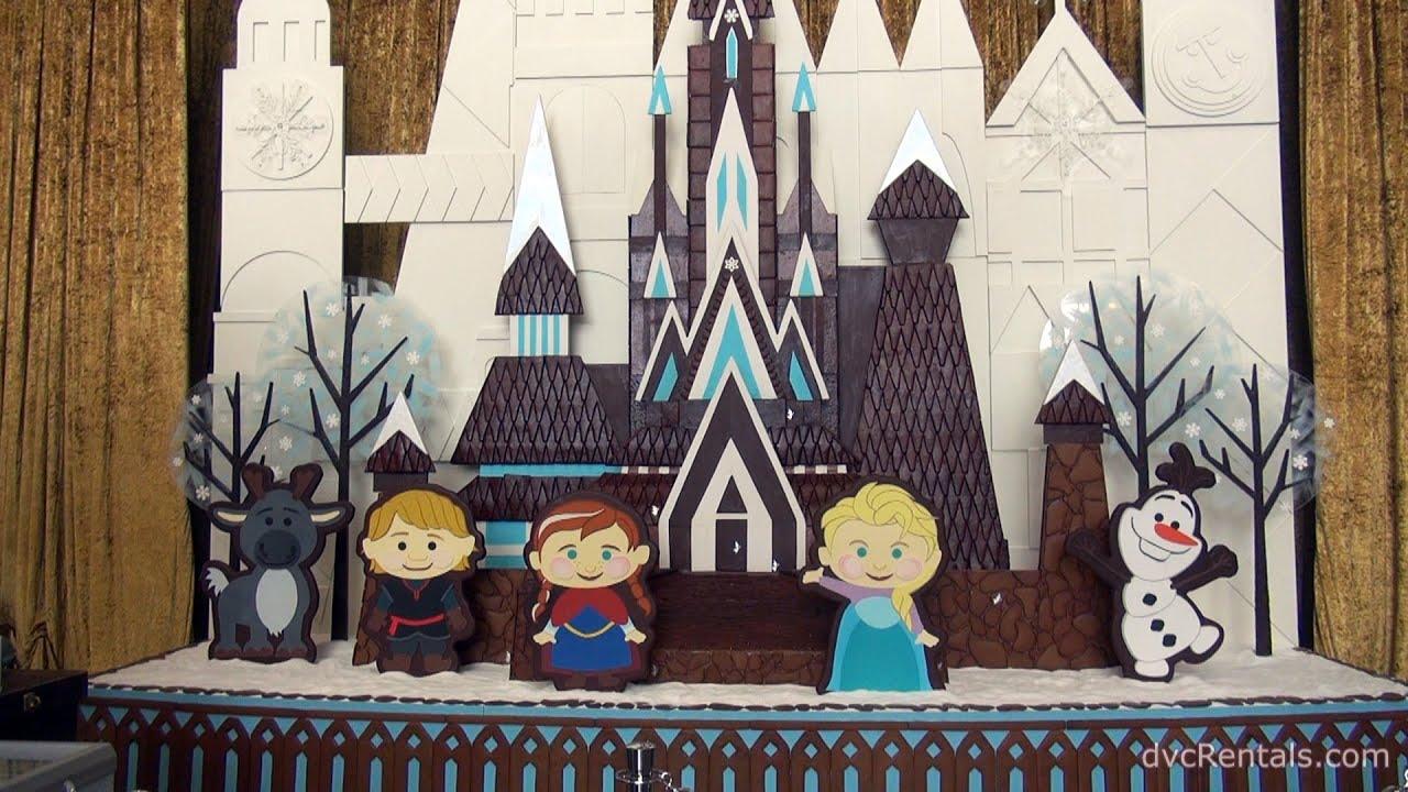 Christmas Decorations Contemporary frozen gingerbread display - disney's contemporary resort