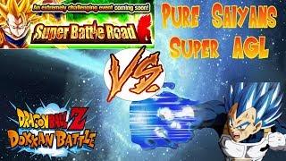 SUPER AGL PURE SAIYANS VS SBR   DOKKAN BATTLE   Group Multis at the End!