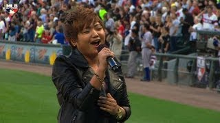 TEX@CWS: Charice performs the national anthem