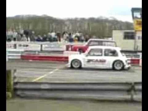 two hayabusa engines in a mini