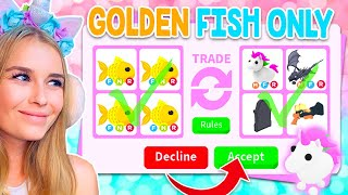 TRADING GOLDEN FISH ONLY In Adopt Me! (Roblox)