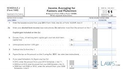 Income Averaging for Farmers and Fisherman Schedule J