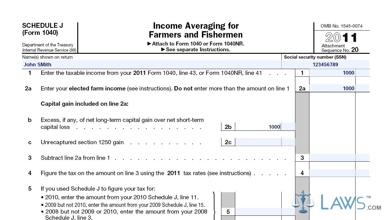 Income averaging for farmers and fisherman schedule j youtube income averaging for farmers and fisherman schedule j falaconquin