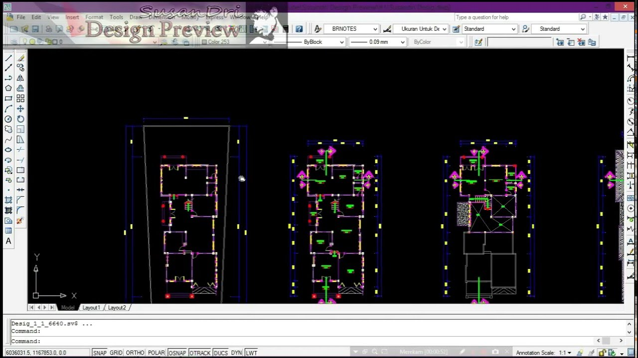 Desain Rumah Home Design preview in Sketchup and AutoCAD trailer