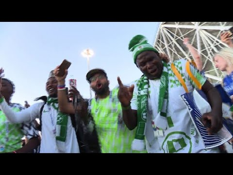 AFP news agency: World Cup 2018: Nigeria fans celebrate 2-0 win over Iceland
