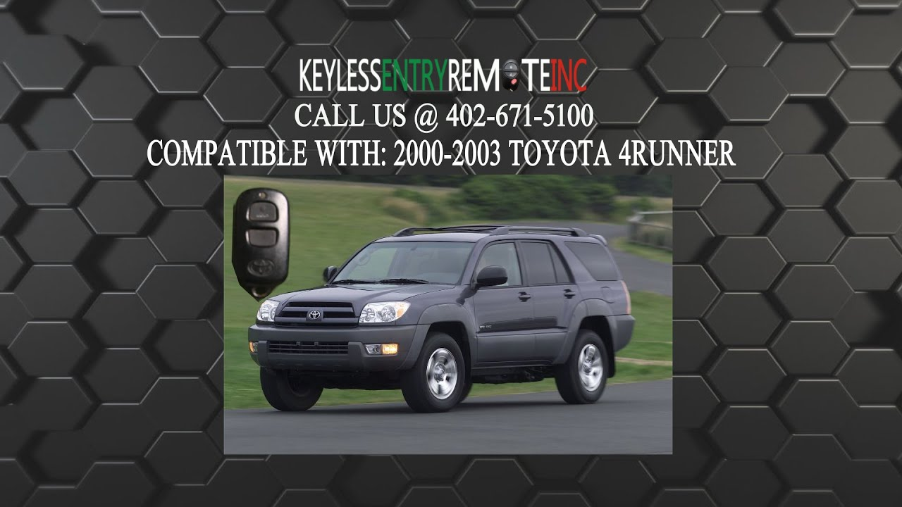 How to replace toyota 4runner key fob battery 2000 2001 2002 2003