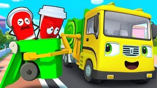 Gambar cover Garbage Truck, Fire Truck, Police Car, Ambulance | Cars for Kids | Kids Songs |Kids Cartoon |BabyBus