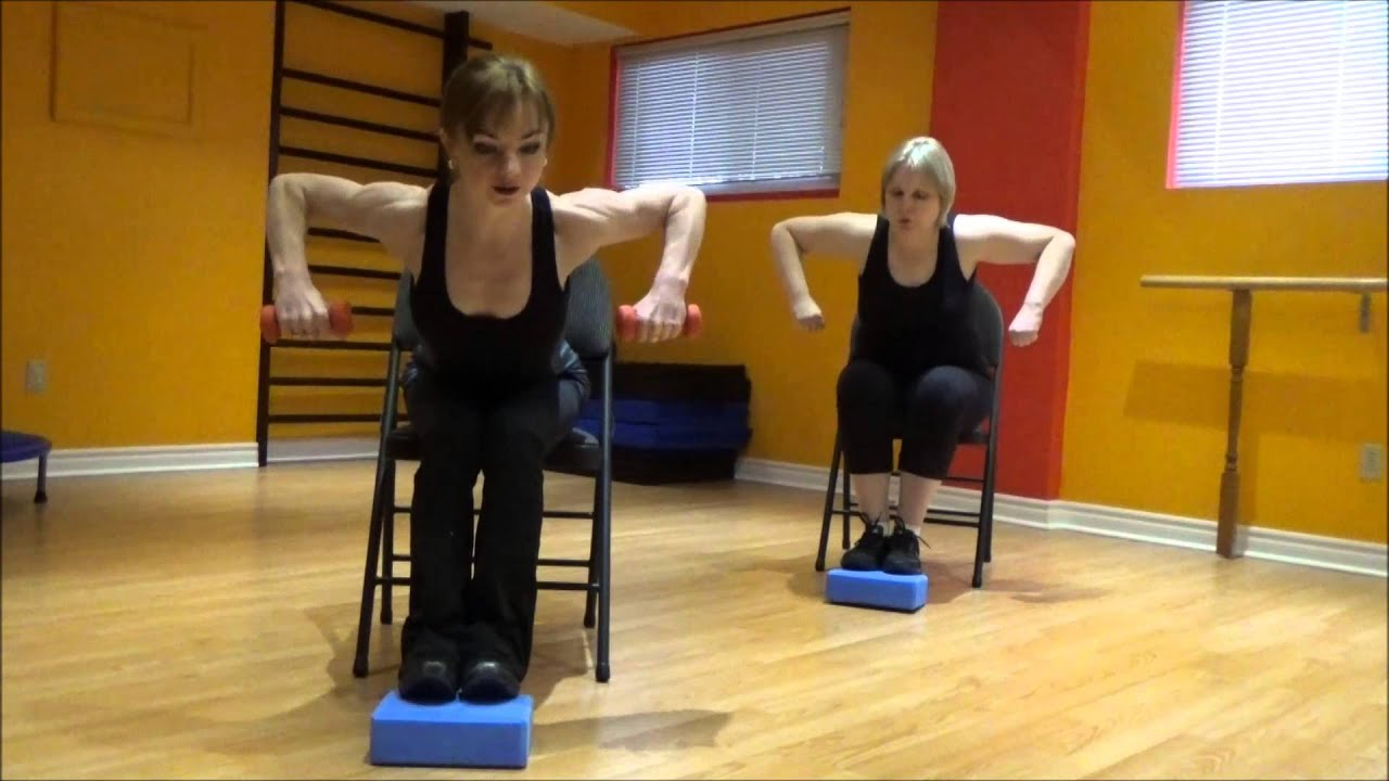 Cardio and Strength exercises on a chair 2 for people with bad
