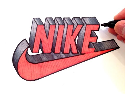 How to Draw Nike Logo in 3D - Best on Youtube