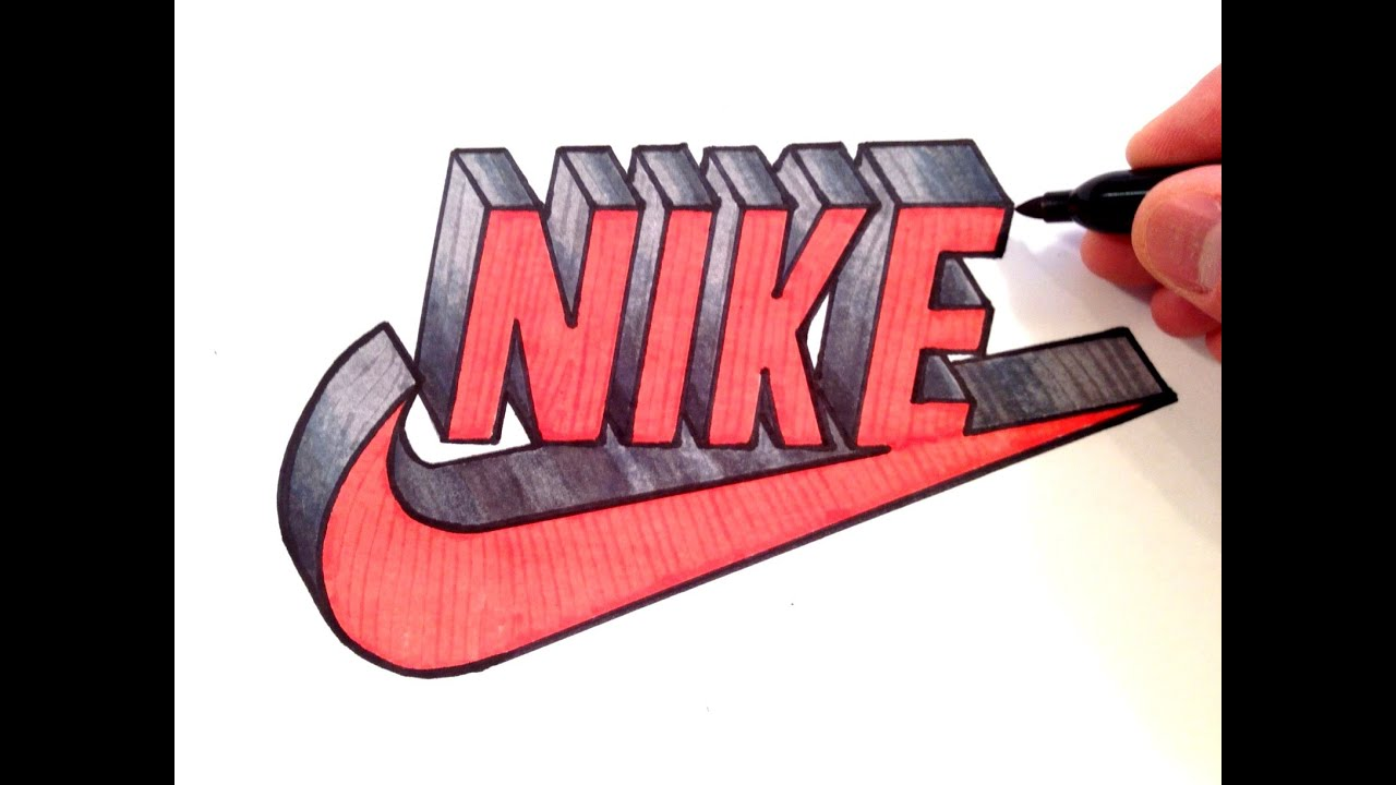 How to draw nike logo in 3d best on youtube youtube buycottarizona Choice Image