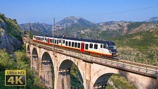 Railway line Belgrade - Bar  -  Trains in Montenegro July 2016 [4K]