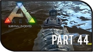 """ARK: Survival Evolved Gameplay Part 44 - """"RIDING OUR OWN CROCODILE/SARCO"""""""