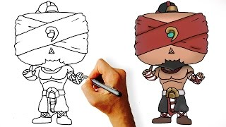 How to Draw Lee Sin Step by Step Chibi (League of Legends)