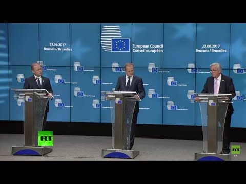 Donald Tusk, Jean-Claude Juncker & Joseph Muscat News conference on Brexit Talks