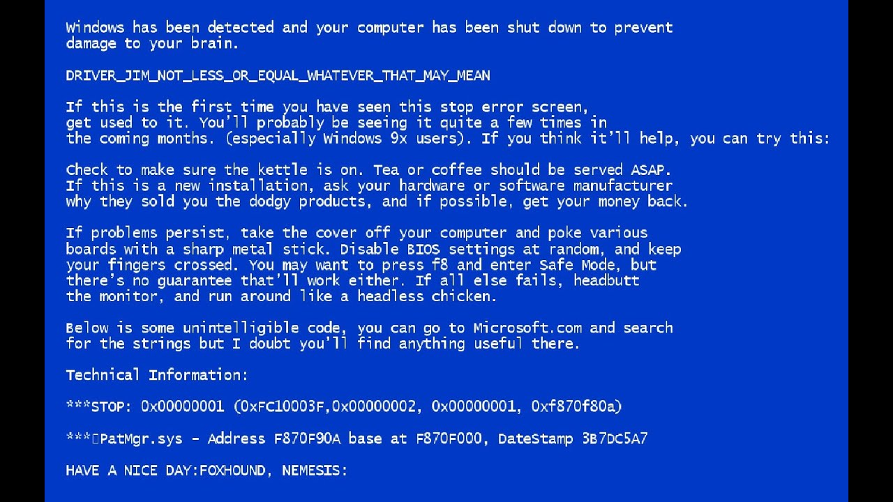 Bsod Windows 7 Wallpaper