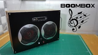 How to make Wooden BoomBox | Speakers